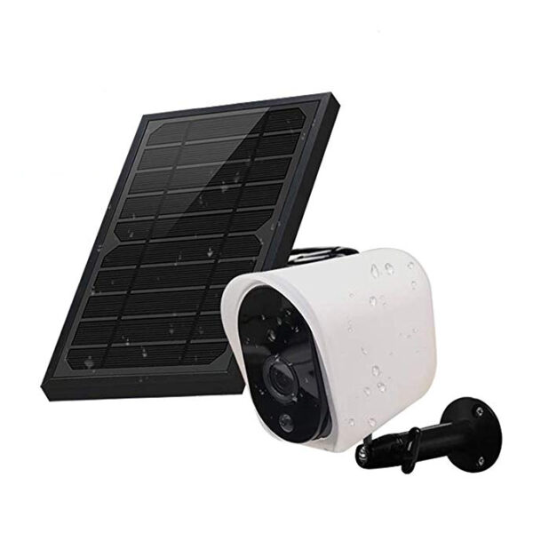 Security IP Camera with Solar Panel GUUDGO Wireless Solar Rechargeable Battery Powered 1080p HD Waterproof Outdoor Home Surveillance with Motional Detection Two Way Audio Night Vision-Work with Alexa