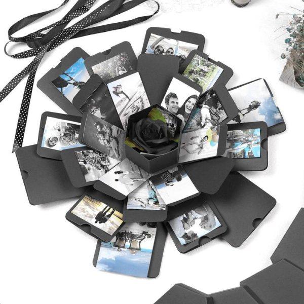 Scrapbook Photo Album Box Lovely Surprise Explosion Couple Box Love Memory DIY Anniversary Valentine's Day Girl Love Gift