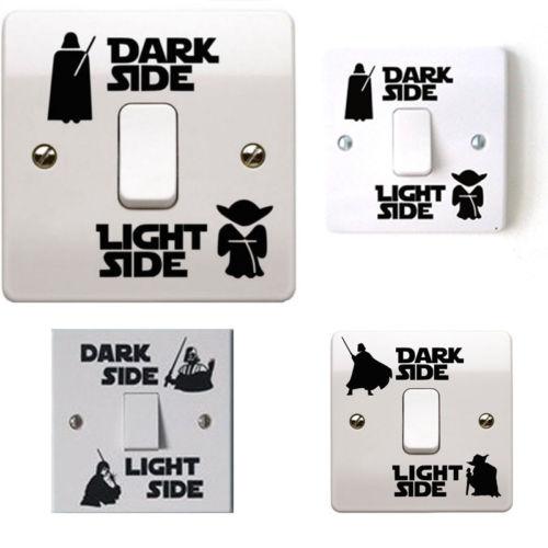 Fashion Dark Light Side Switch Panel Stickers Vinyl Decal Sticker Child Room Living Room Light-switch Wall Sticker